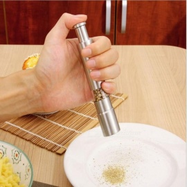 Stainless Steel Kitchen Manual Pepper Grinder Tool - Silver