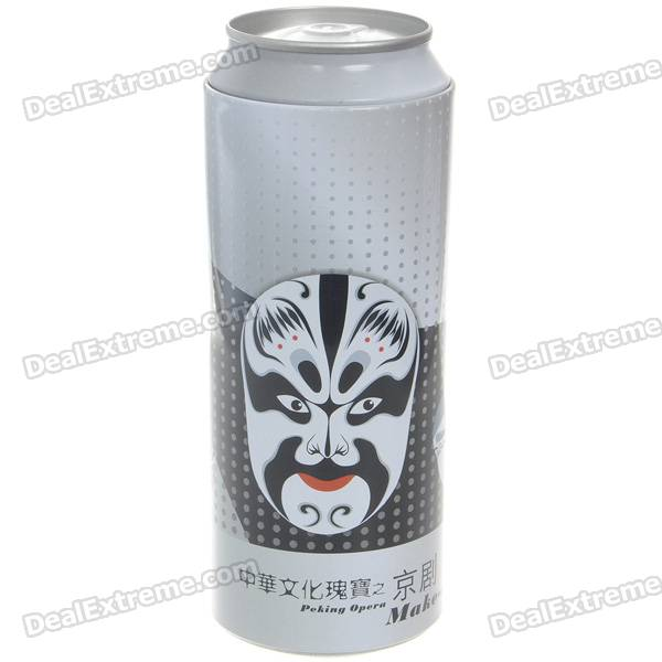 Beijing Opera Facial Masks Style Cola Can Stainless Steel Dinner Set (Chopsticks + Fork + Spoon)