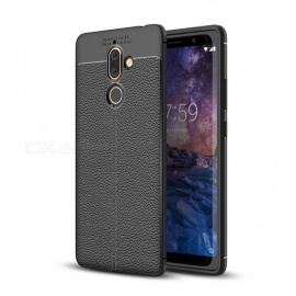 Dayspirit Lichdee Pattern Protective TPU Back Cover Case for Nokia 7 Plus - Black