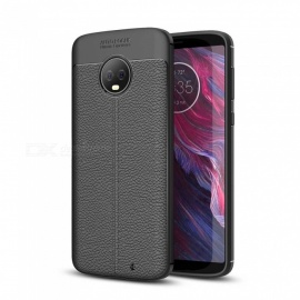 Dayspirit Lichdee Pattern Protective TPU Back Cover Case for Motorola Moto G6 Plus - Black