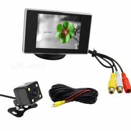 OJADE 3.5 Inches Monitor + 170 Degree HD Car Rear View Camera + High-Definition Wide Angle Waterproof CMOS Camera