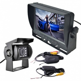 OJADE Waterproof Wireless 7 Inches Car Rear View Camera Kit for Bus