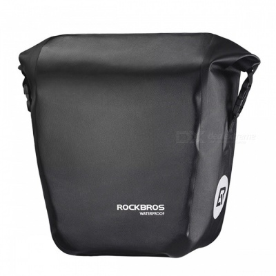 ROCKBROS 18L Portable Waterproof Bicycle Bike Bag, Pannier Rear Rack Tail Seat Trunk Pack - Black