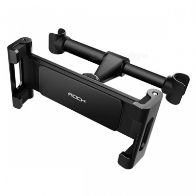 ROCK Universal Car Headrest Mount Backseat Holder for IPHONE IPAD 4-10.5 Inches Cell Phones Tablet PCs - Black