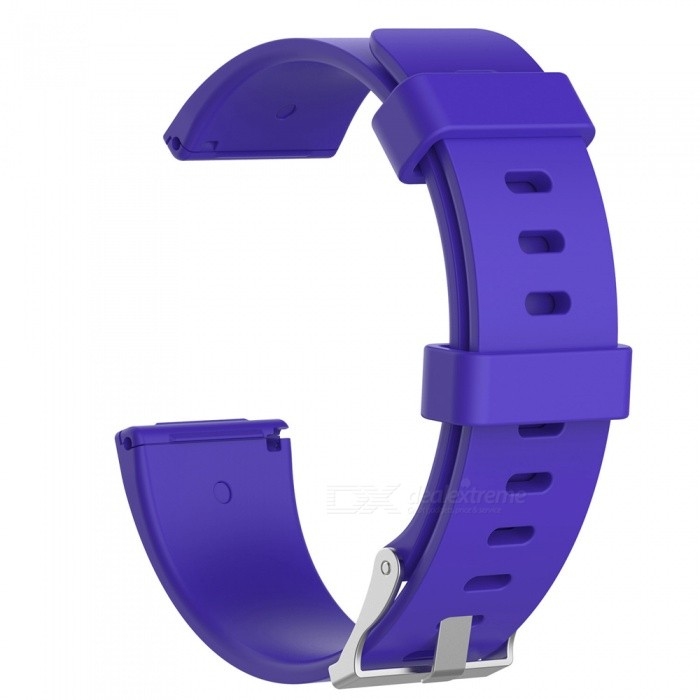 Replacement Smart Watch Silicone Wristband for Fitbit Versa - Purple (L)