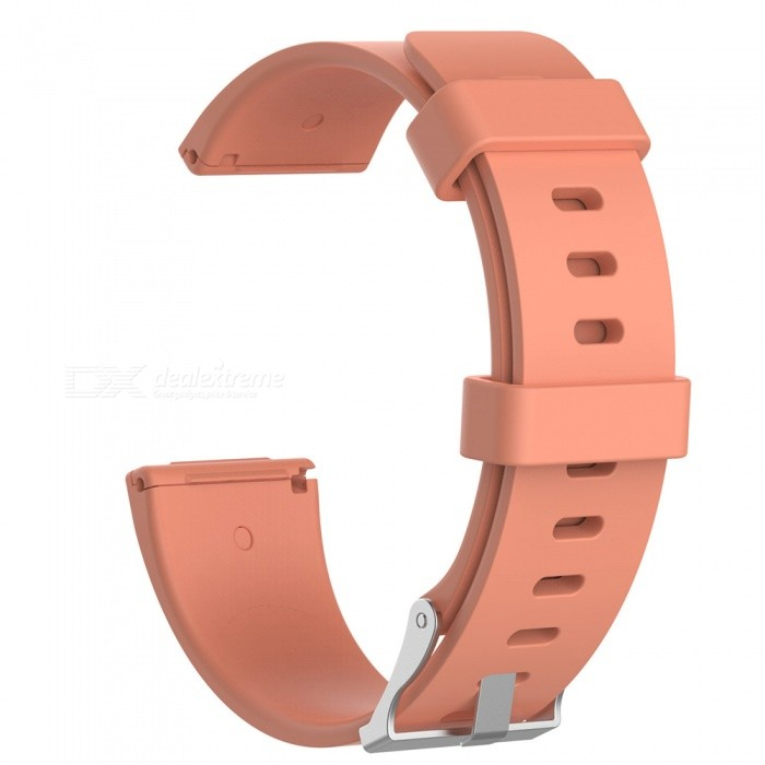Replacement Smart Watch Silicone Wristband for Fitbit Versa - Coffee