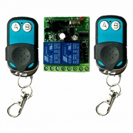 12V 315MHz 2-Channel 100m Wireless Remote Controller Switch Module - Blue + Green