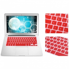 EU Version Spanish Keyboard Protective Film Cover for 13 inches MACBOOK - Red
