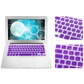 EU Version Spanish Keyboard Protective Film Cover for 13 inches MACBOOK - Purple