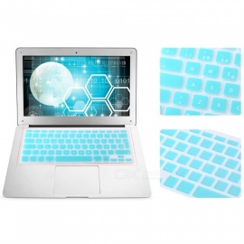 EU Version Spanish Keyboard Protective Film Cover for 13 inches MACBOOK - Lake Blue