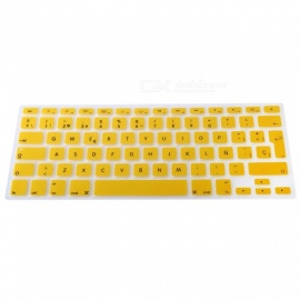 EU Version Spanish Keyboard Protective Film Cover for 13 inches MACBOOK - Yellow