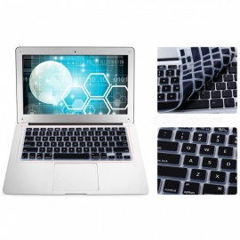 US Version Protective Keyboard Film Cover for 13 inches MACBOOK - Black