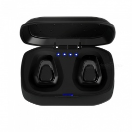 A7 TWS Invisible Mini 3D Stereo Hands-free Noise Reduction Bluetooth V4.2 Headset - Black