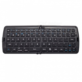 Teclado USB inalámbrico ultrafino plegable del juego del bluetooth para la tableta de Apple IPAD / macbook / samsung android - negro