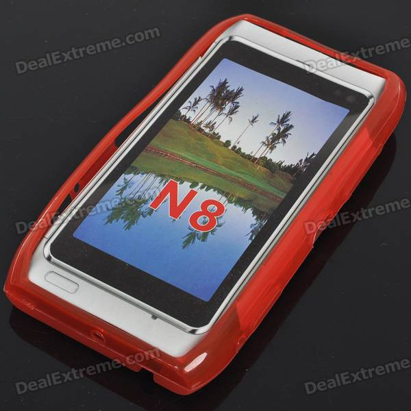 Protective TPU Case for Nokia N8 - Red nokia n8 в сумах
