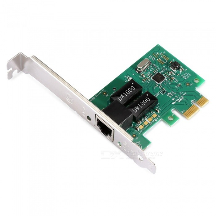 1000Mbps PCI-E RTL8111E Gigabit Network Card Adapter - Green