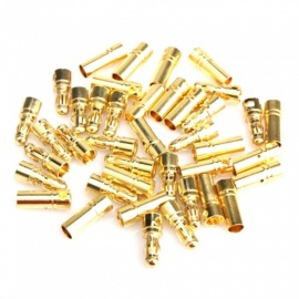 ZHAOYAO Gold-plated Bullet Style 3.5mm Male Female Connectors - Gold (40pcs)