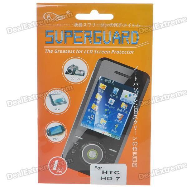 Screen Protector/Guards + Cleaning Cloth for HTC HD7