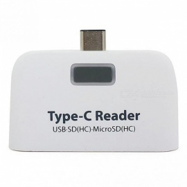 Measy 4-In-1 Super Speed Portable USB 3.1 Type-C Adapter TF Card Reader - White