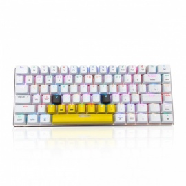 AJAZZ AK33-RGB 82-key Mechanical Keyboard, Bluetooth Cable Dual Mode Support - White