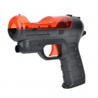 Shooting Equipment Gun Pistol Adapter for Motion Controller PS3 Move - Red + Black