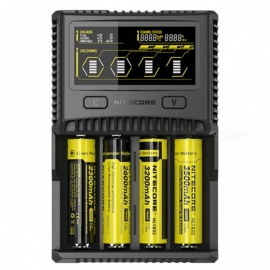 Nitecore SC4 Superb 4-Slot Smart Charger - Black (EU Plug)