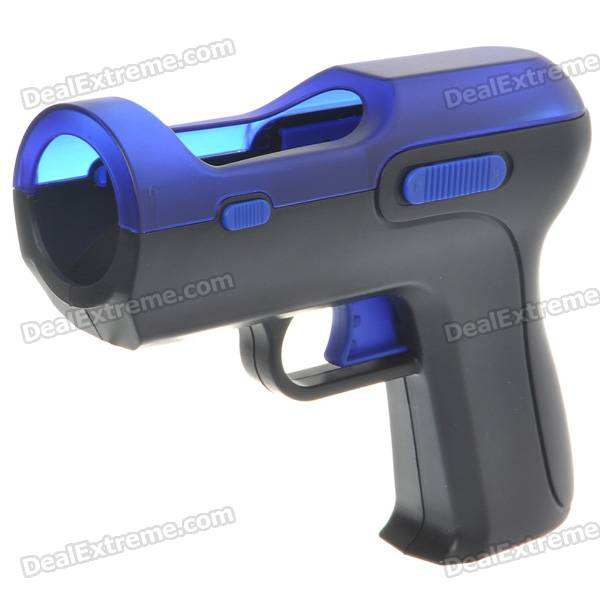 Shooting Equipment Gun Pistol Adapter for Motion Controller PS3 Move - Blue + Black