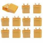 ZHAOYAO XT90 Battery Connector Set for RC Lipo Battery Motor - Yellow (5 Pairs)