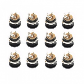 ZHAOYAO 10PCS DC-022 5.5x2.1mm Round Hole Threaded Nut DC Power Sockets