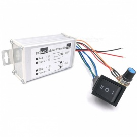ESAMACT DC Motor Speed Controller 20A 9-60V Reversible PWM Control Forward Reverse Switch