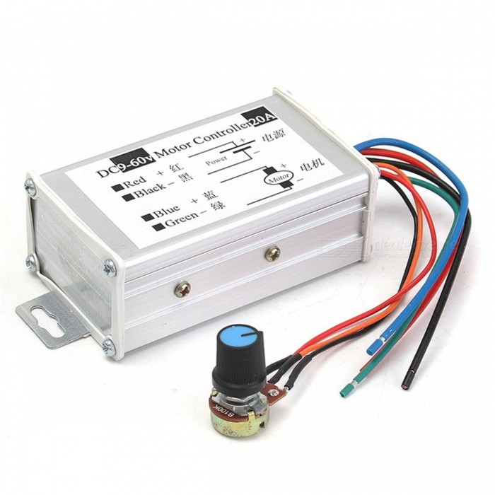 esamact dc motor speed controller 20a 9 60v reversible pwm control forward reverse switch free. Black Bedroom Furniture Sets. Home Design Ideas