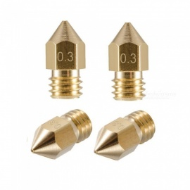 ESAMACT 5PCS 3D Print Nozzle 0.3mm/1.75mm 3D Printer Accessories Mk8 Brass Nozzle Heads