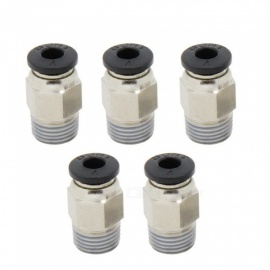 ESAMACT 5Pcs Straight Hot Heads Male Threaded E3D V6 Quick Connectors