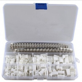 ESAMACT 560Pcs XH2.54 2p 3p 4p 5 pin 2.54mm Pitch Terminal Kit, Housing / Pin Header Connector, Wire Connectors Adaptor XH Kit