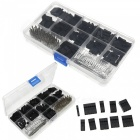 ESAMACT 620Pcs 2.54mm Dupont Cable Jumper Wire Pin Header Housing Kit, Male Crimp Pins + Female Pin Terminal Connector