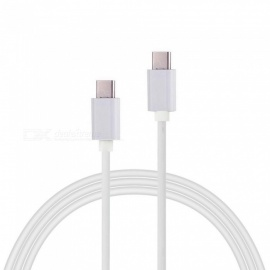Cwxuan USB 3.1 Type-C Male to Male Fast Charging Data Sync Cable - White (100cm)