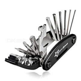 ROCKBROS 16 in 1 Multifunction Bicycle Repair Tool Kit, Hex Spoke Cycling Screwdriver Tool