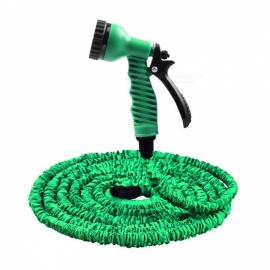 25FT High Pressure 3X Expandable Magic Flexible Water Hose for Garden, Car - Green