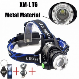 AIBBER TONE LED Headlamp Headlight Head Flashlight Aluminum 900lm T6/L2 Zoom Adjustable Head Lamp Front Light
