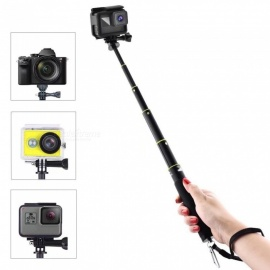 Waterproof Handheld Extendable Selfie Stick Monopod for Gopro Hero 6, Hero 5, SJ6000, SJ7000, XiaoMi Yi - Black