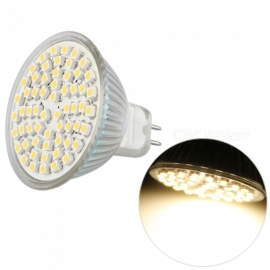 QooK MR16 GU5.3 4W 60-LED 3528 SMD Warm White Spot Light Lamp Bulb, 12V