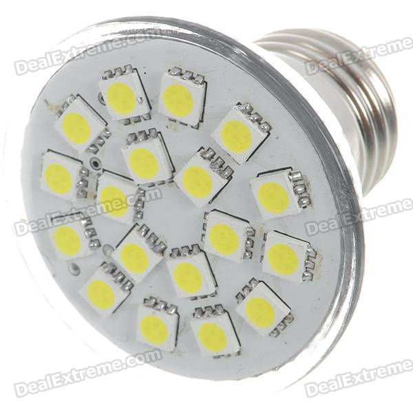 E27 3W 140-Lumen 6000K 18x5050 SMD LED White Light Lamp Bulb (110V) e27 2w 100 lumen 3000k 30x3528 smd led warm white light lamp bulb 110v