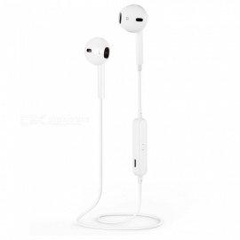 S6 Portable Wireless Bluetooth Sports Earbuds - White