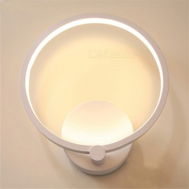 ZHAOYAO Acrylic Round LED Creative Mini Bedroom Bedside Aisle Corridor Balcony Entrance Lamp Warm White Light