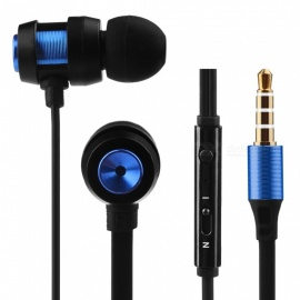 In-Ear Wired Earphones Aluminum Alloy Mobile Phone Headphones Headset Noise-isolating with Microphone