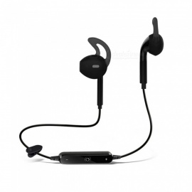 sports bluetooth sans fil de cwxuan exécutant le casque stéréo d'earhook w / mic -black