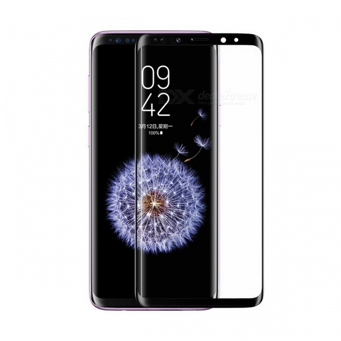 USAMS Protective Full Screen Cover Curved Tempered Glass Screen Protector Film for Samsung Galaxy S8 / S8 Plus