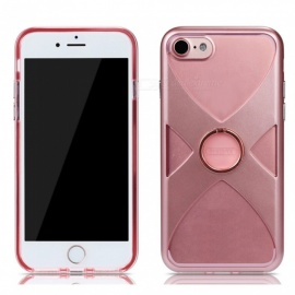 REMAX Protective X Style TPU + PC Back Case with Finger Ring Stand for IPHONE 7, IPHONE 8 - Pink