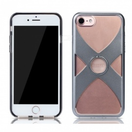 REMAX Protective X Style TPU + PC Back Case with Finger Ring Stand for IPHONE 7, IPHONE 8 - Grey