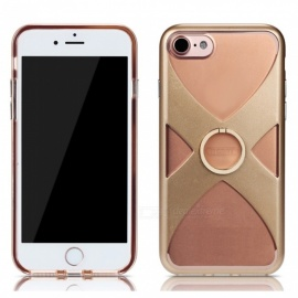 REMAX Protective X Style TPU + PC Back Case with Finger Ring Stand for IPHONE 7 PLUS, IPHONE 8 PLUS - Gold